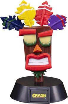 Figura Brilhante Crash Bandicoot - Aku Aku