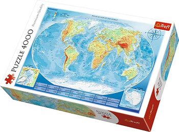 Puzzle Large Physical Map of the World