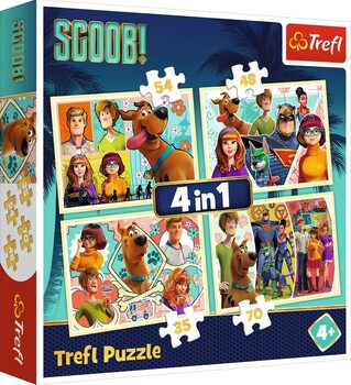 Puzzle Scoob Movie: Scooby Doo and Friends 4in1