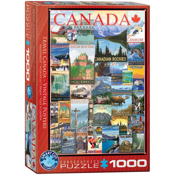 Puzzle Travel Canada Vintage Posters