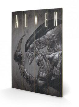 Alien - Head on Tail Panneaux en Bois