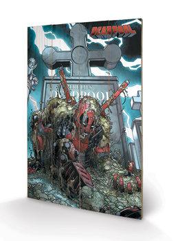 Deadpool - Grave Panneaux en Bois