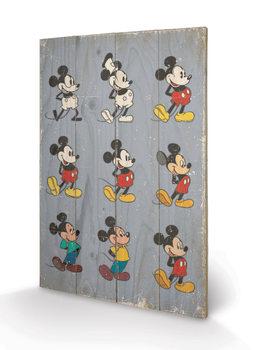 Mickey Mouse - Evolution Panneaux en Bois