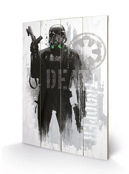 Rogue One: Star Wars Story - Death Trooper Grunge Panneaux en Bois