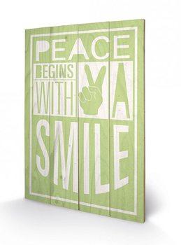Sarah Winter - Peace Begins With A Smile Panneaux en Bois