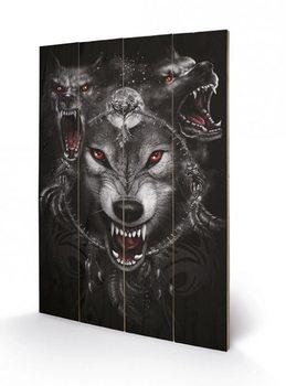 SPIRAL - wolf triad Panneaux en Bois
