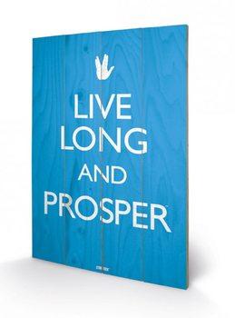 Star Trek - Live Long and Prosper  Panneaux en Bois