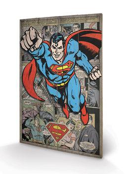 Superman - Comic Montage Panneaux en Bois