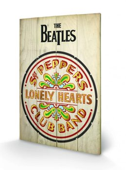 The Beatles Sgt Peppers  Panneaux en Bois