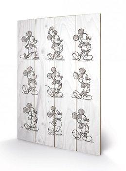 Topolino (Mickey Mouse) - Sketched - Multi Panneaux en Bois