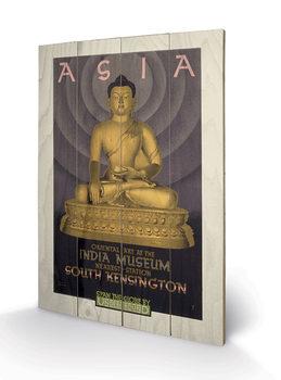 Transport For London - Asia, India Museum, 1930 Panneaux en Bois