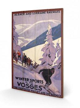 Winter Sports In The Vosges Panneaux en Bois