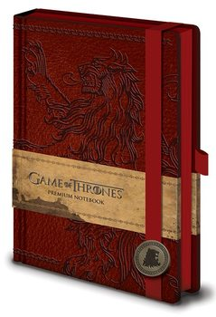 Papelaria Game of Thrones - Lannister Premium A5 Notebook