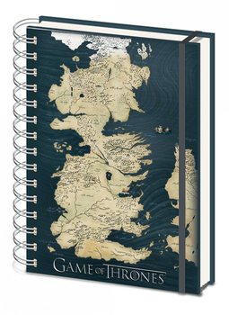 Papelaria Game of Thrones - Map A5 notebook
