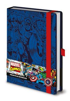 Papelaria Marvel - Captain America A5 Premium Notebook