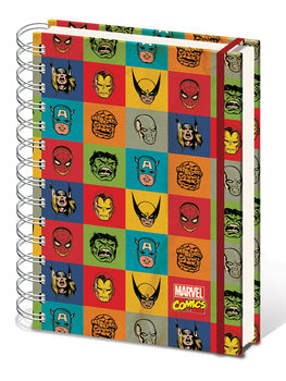Papelaria Marvel Retro - Faces A5 Notebook