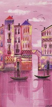 Pink Venice Reproduction d'art