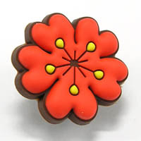 RAMILLETE - red poppy Pins para sapatos