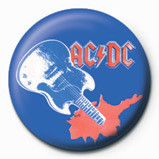 Pins AC/DC - Blue guitar