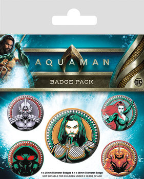 Conjunto de crachás Aquaman - Heavy Hitters Of The Seas