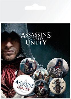 Conjunto de crachás Assassin's Creed Unity - Characters