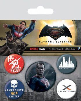 Conjunto de crachás Batman v Superman: Dawn of Justice - Superman