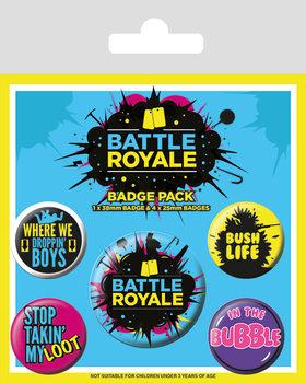 Conjunto de crachás Battle Royale - Infographic