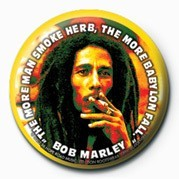 Pins BOB MARLEY - herb