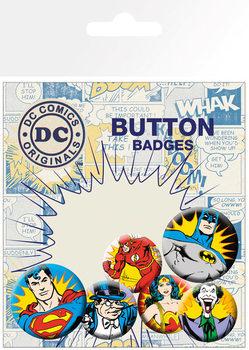 Conjunto de crachás DC Comics - Heroes & Villains