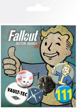 Conjunto de crachás Fallout 4 - Mix 1