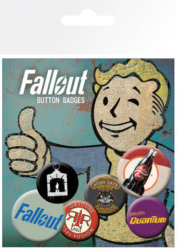 Conjunto de crachás Fallout 4 - Mix 2
