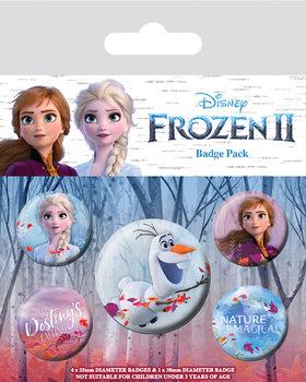 Conjunto de crachás Frozen 2