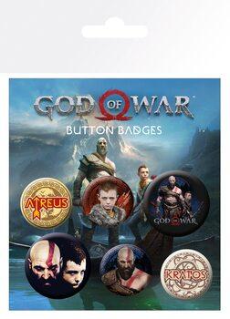 Conjunto de crachás God Of War - Mix