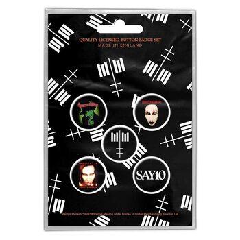 Conjunto de crachás Marilyn Manson - Cross Logo