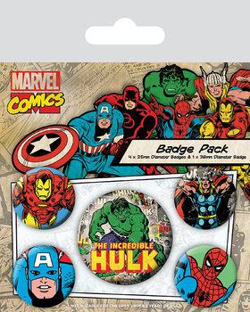 Conjunto de crachás Marvel Retro - Hulk
