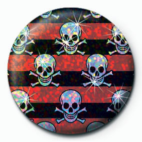 Pins MULTI SKULL - Red