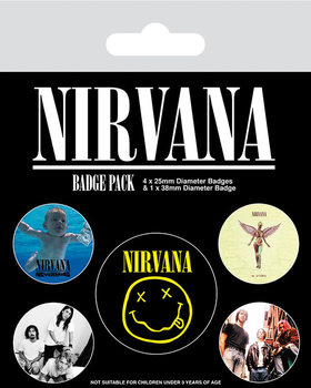 Conjunto de crachás Nirvana - Iconic