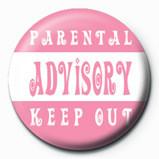 Pins Parental Advisory (Pink)