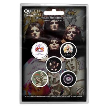 Conjunto de crachás Queen - Early Albums