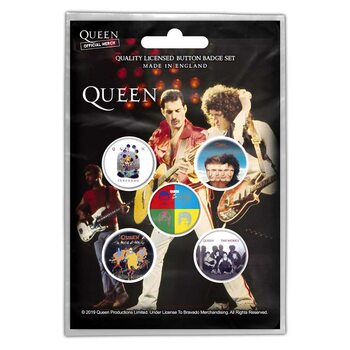Conjunto de crachás Queen - Later Albums