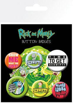 Conjunto de crachás Rick and Morty - Quotes