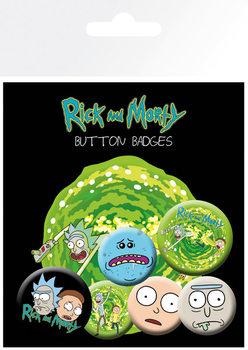 Conjunto de crachás Rick & Morty - Characters