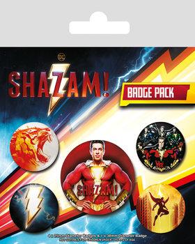 Conjunto de crachás Shazam - Power