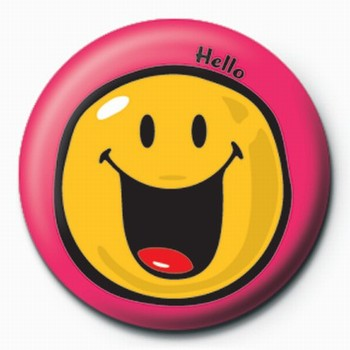 Pins Smiley World-Hello