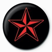 Pins  STAR (RED & BLACK)