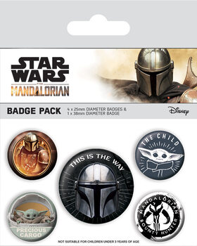 Conjunto de crachás Star Wars: The Mandalorian - This Is The Way
