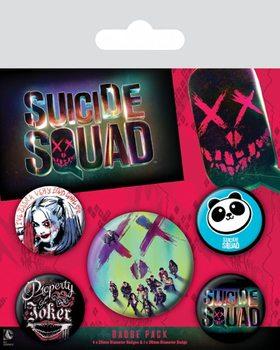 Conjunto de crachás Suicide Squad - Face