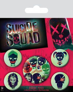 Conjunto de crachás Suicide Squad - Skulls