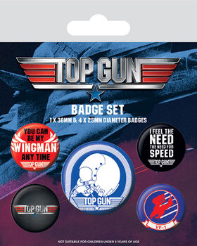 Conjunto de crachás Top Gun - Iconic