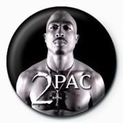 Pins Tupac (B&W)